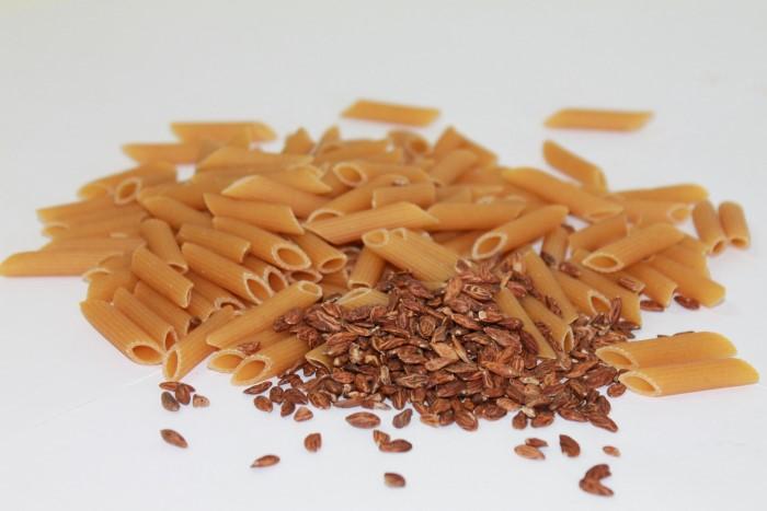 pasta saludable con semillas de olivo