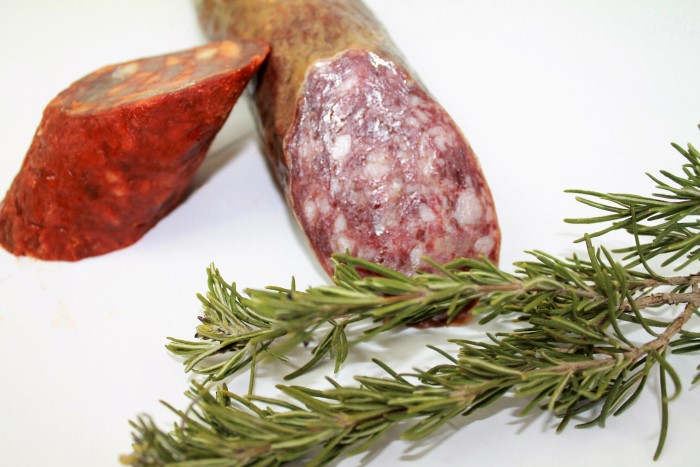 embutido con extracto de romero-sausages with rosemary extract