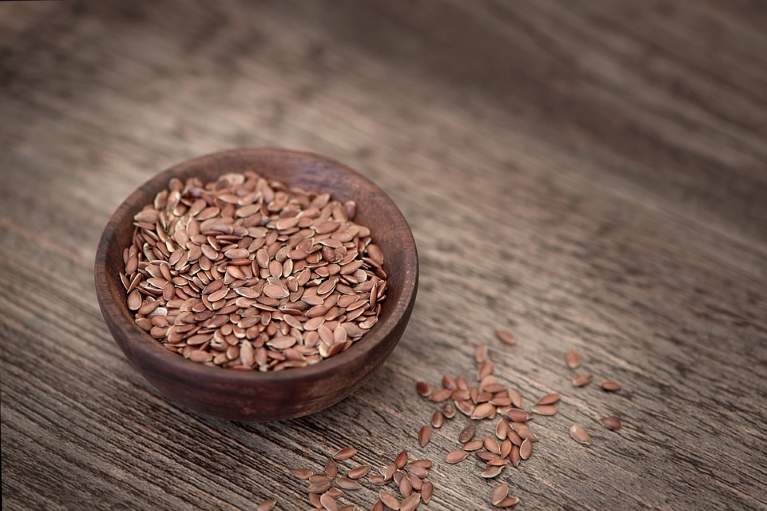 Flaxseed oil, source of fiber and omega-3.